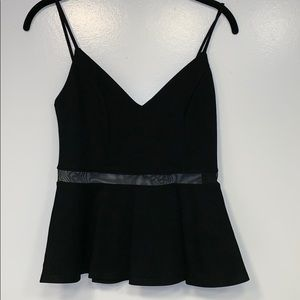 New with tags LuLus peplum top with mesh